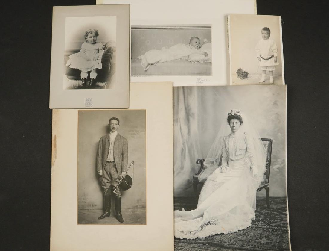 (48) LARGE PHOTOS BABBITT/HYDE FAMILY OF NYC & CT,