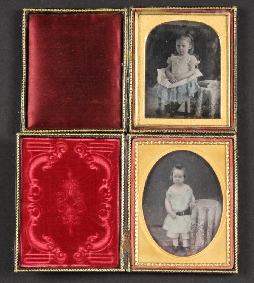 (2) EARLY CASED HALF-PLATE DAGUERREOTYPE PHOTOS FROM