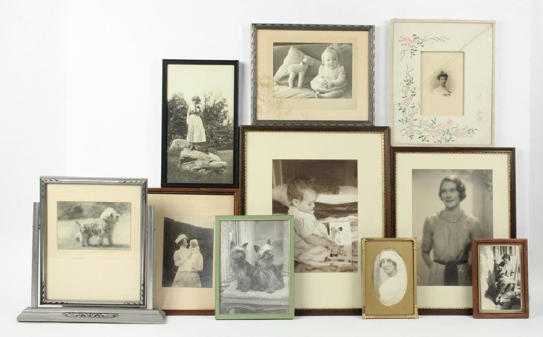 (10) FRAMED PHOTOS FROM THE BABBITT/HYDE FAMILY OF NYC