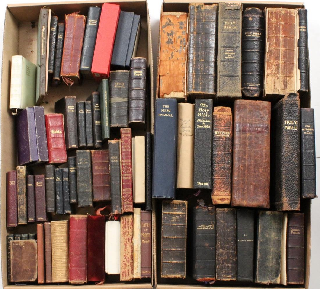 (66) BIBLES, HYMNALS, PRAYER BOOKS, FROM THE