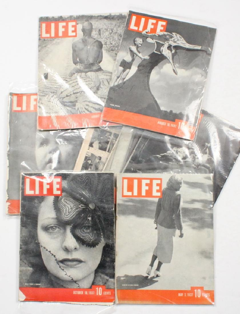 (40) 1937 LIFE MAGAZINES