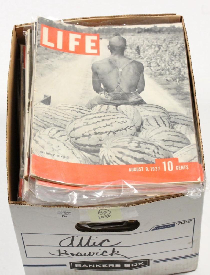 (40) 1937 LIFE MAGAZINES - 2
