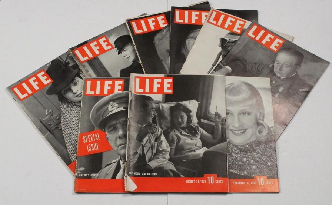 (40) 1939 LIFE MAGAZINES