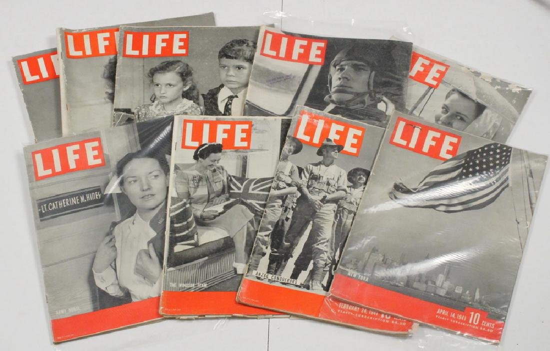 (40) 1941 LIFE MAGAZINES