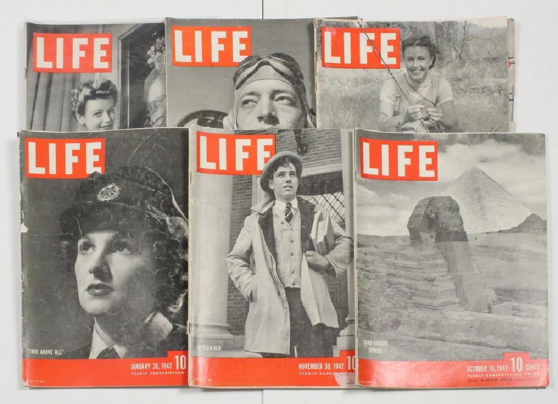 (40) 1942 LIFE MAGAZINES