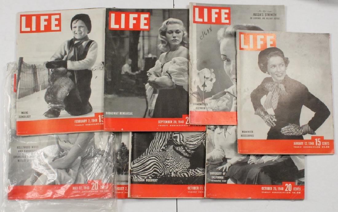 (26) 1946-48 LIFE MAGAZINES