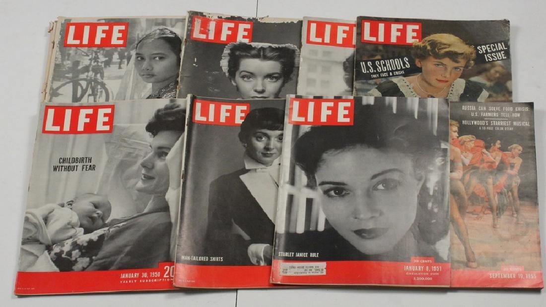 (41) 1949-59 LIFE MAGAZINES
