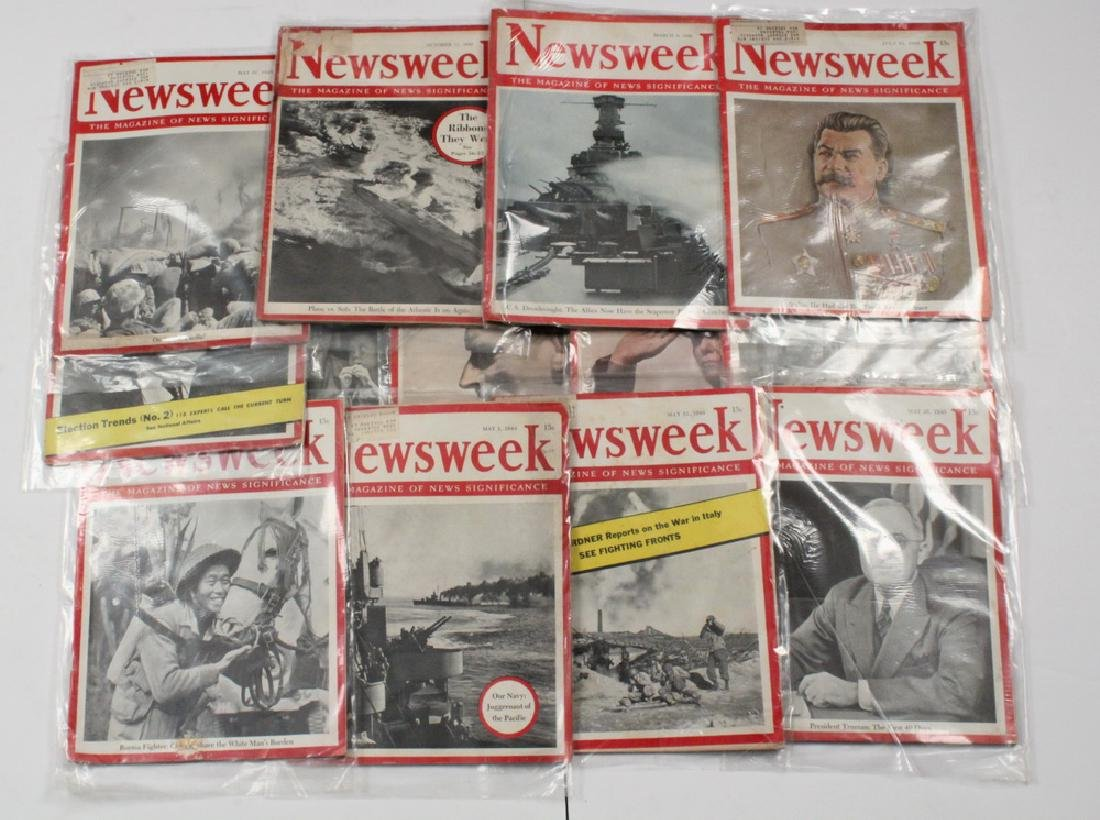 (68) 1940S NEWSWEEK MAGAZINES