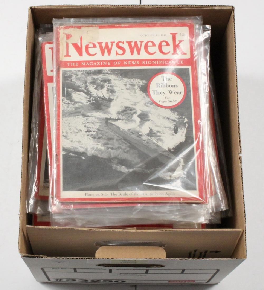 (68) 1940S NEWSWEEK MAGAZINES - 2