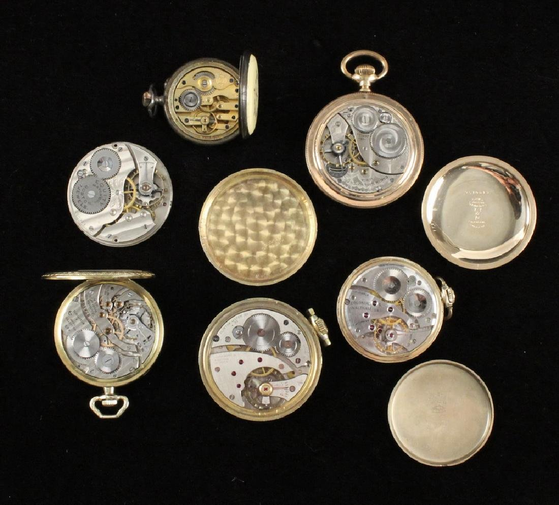 (6) OPEN FACE POCKET WATCHES - 3