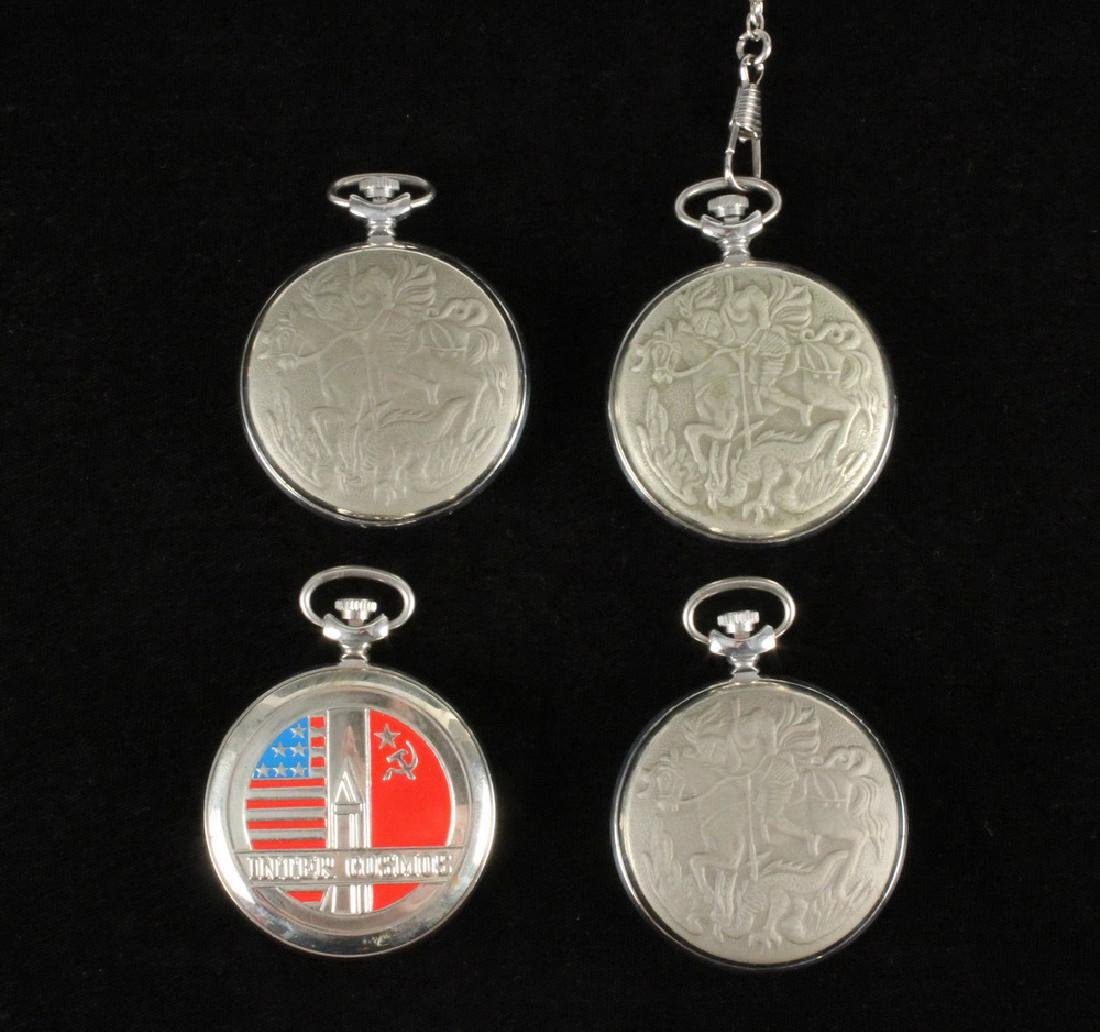 (4) RUSSIAN POCKET WATCHES