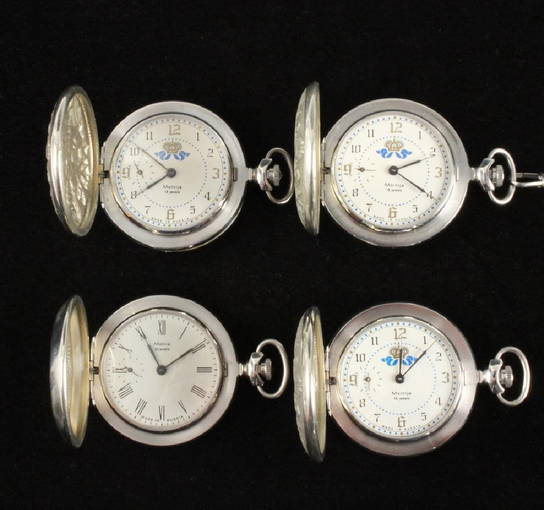 (4) RUSSIAN POCKET WATCHES - 2