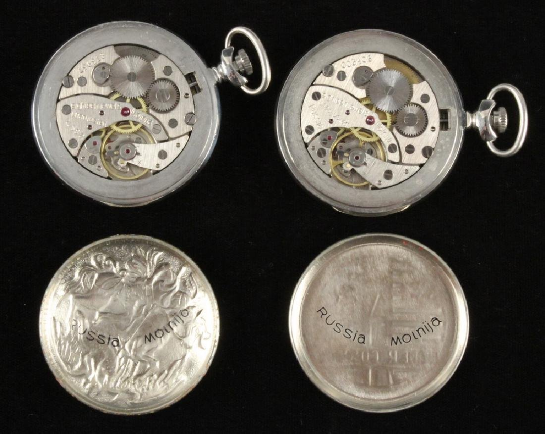 (4) RUSSIAN POCKET WATCHES - 3