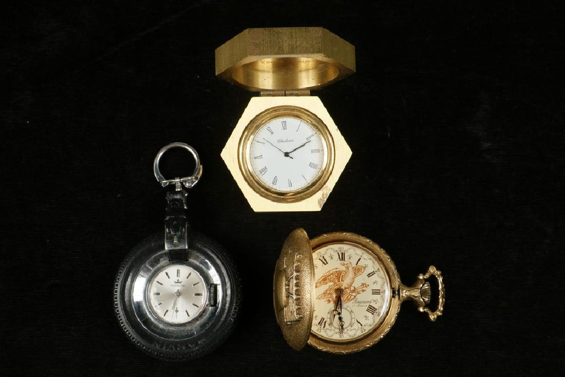 (3) ASSORTED SMALL TIME PIECES