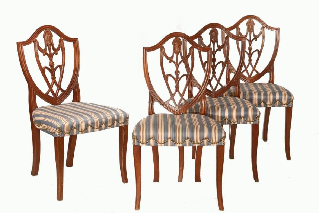 (8) SHIELD BACK DINING CHAIRS