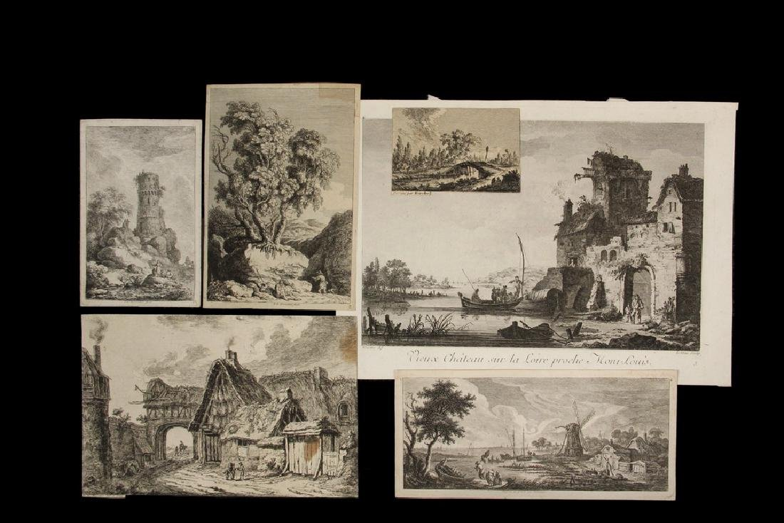 COLLECTION OF (16) GERMANIC 17TH & 18TH C. LANDSCAPE &