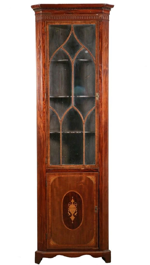 INLAID CORNER DISPLAY CABINET