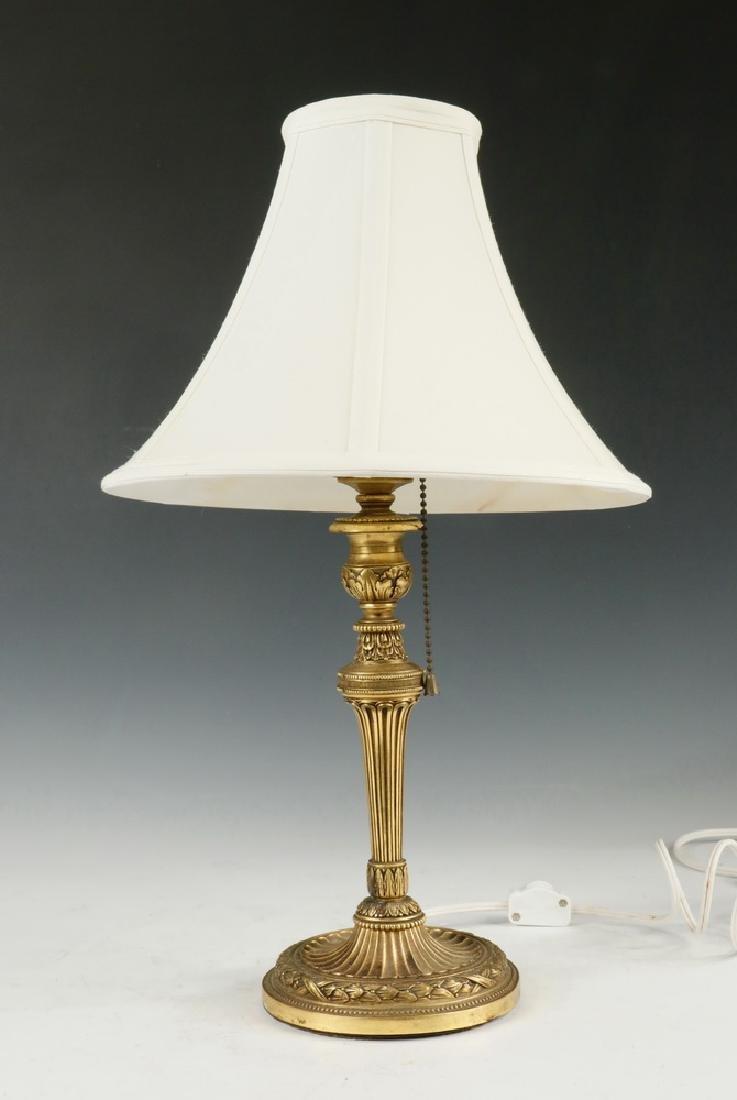 BRONZE BOUDOIR TABLE LAMP