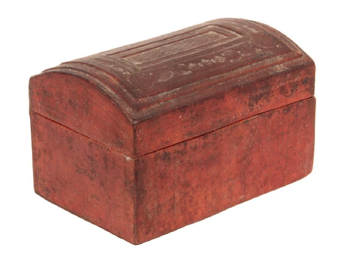 MOROCCAN LEATHER TRINKET BOX