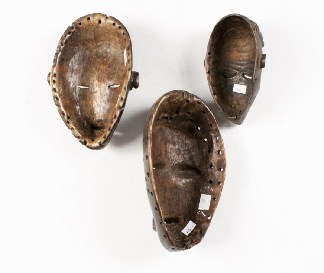(3) SMALL AFRICAN MASKS - 2
