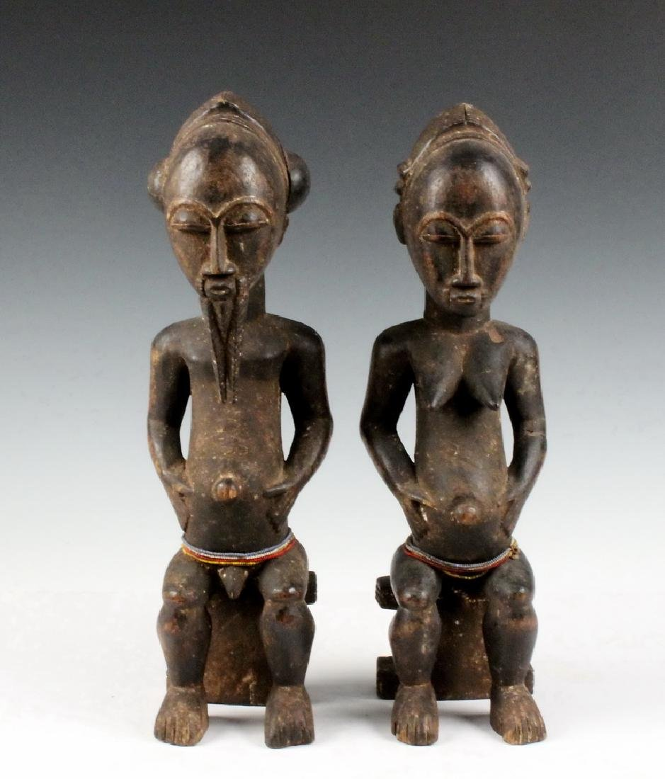 PAIR OF AFRICAN COUPLES CARVING