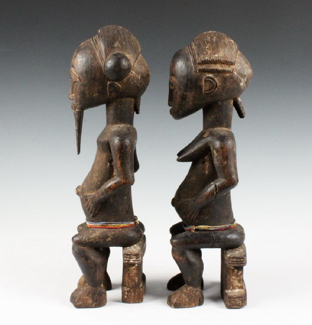PAIR OF AFRICAN COUPLES CARVING - 2