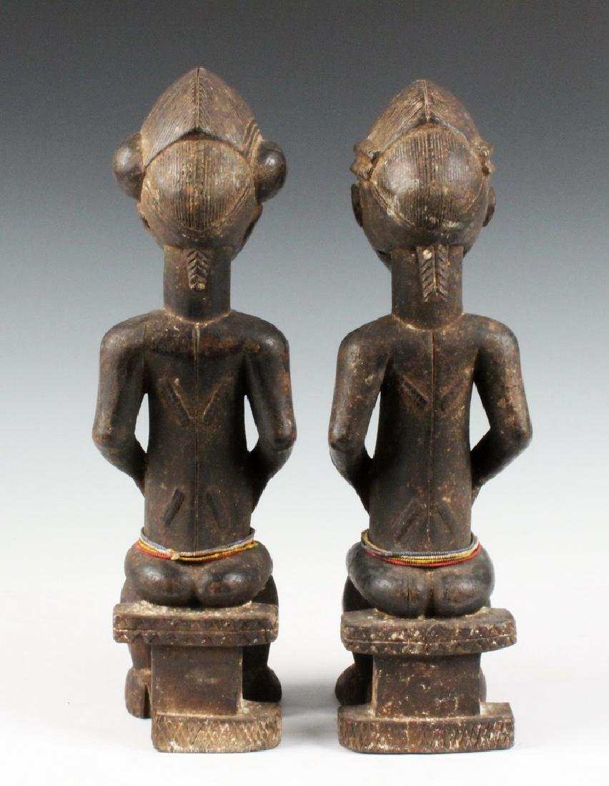 PAIR OF AFRICAN COUPLES CARVING - 3