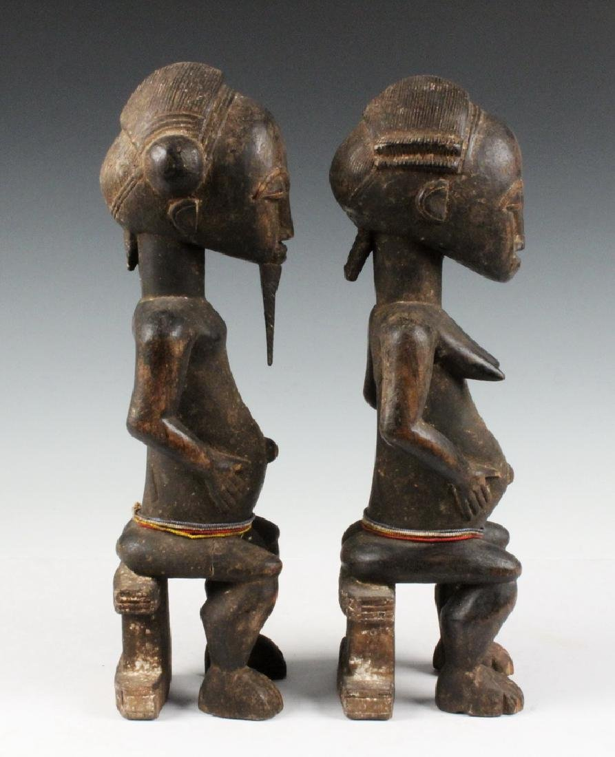 PAIR OF AFRICAN COUPLES CARVING - 4