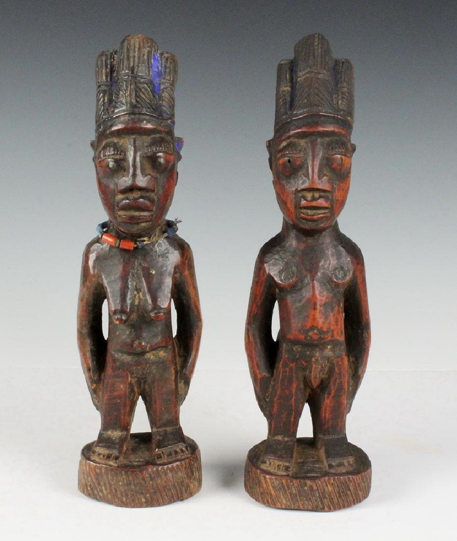 PAIR OF AFRICAN FERTILITY CARVINGS