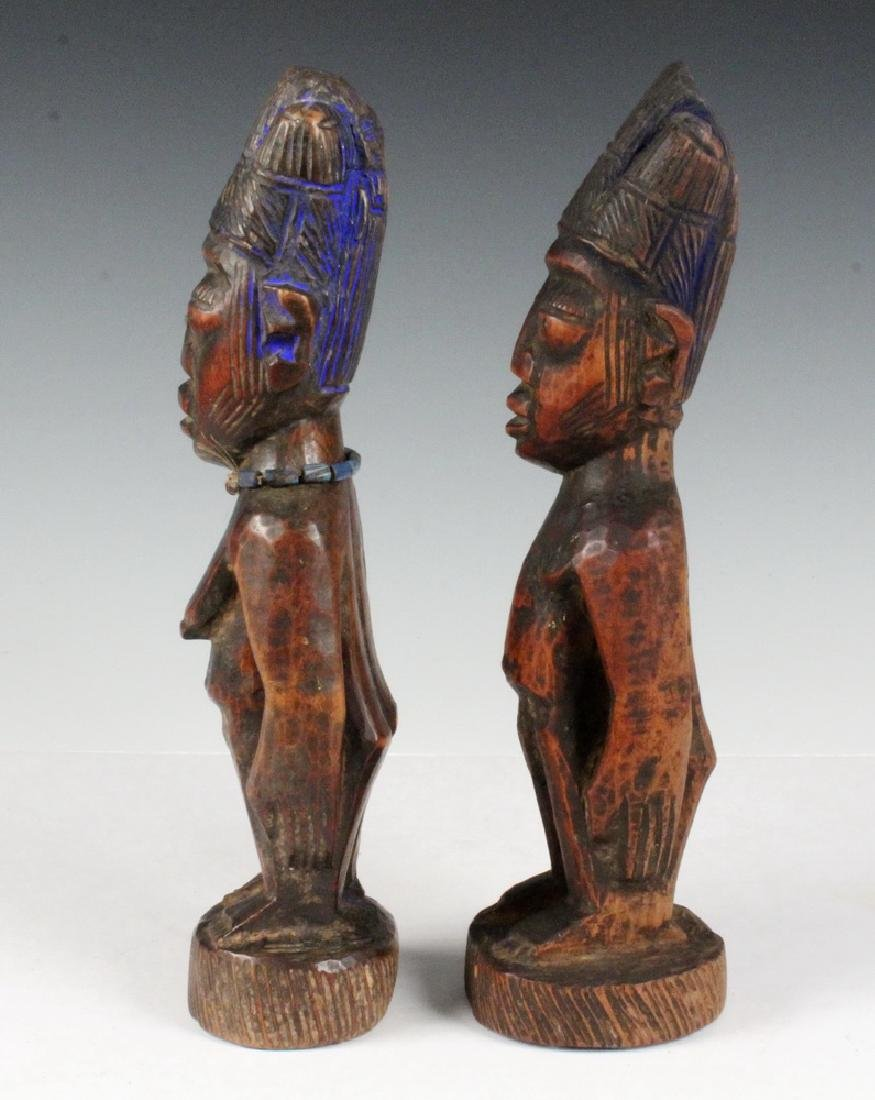 PAIR OF AFRICAN FERTILITY CARVINGS - 2