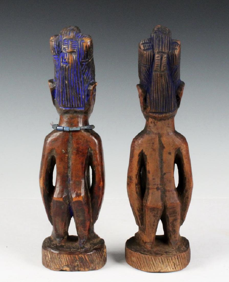 PAIR OF AFRICAN FERTILITY CARVINGS - 3