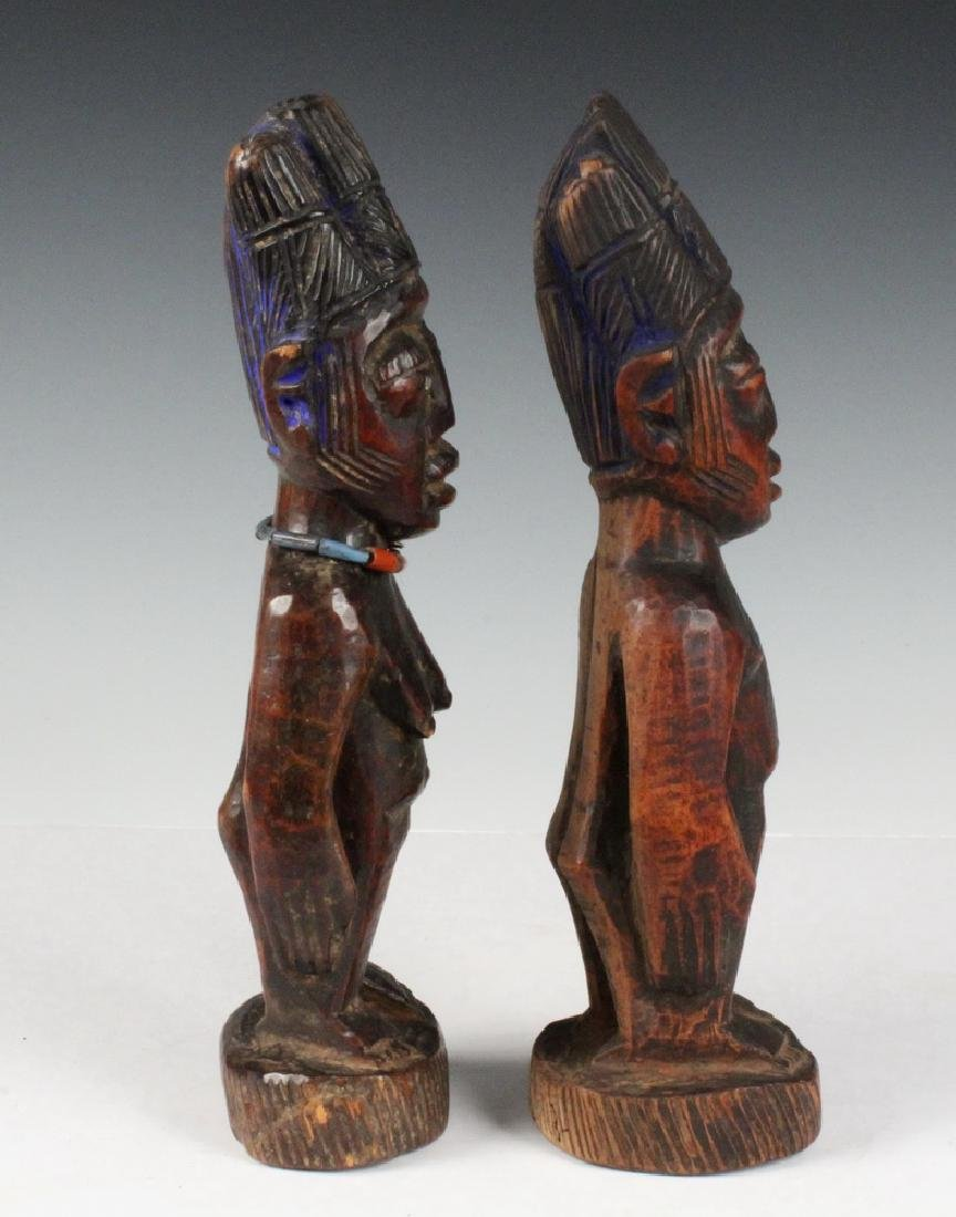 PAIR OF AFRICAN FERTILITY CARVINGS - 4