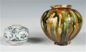 2 CHINESE POTTERY VASES