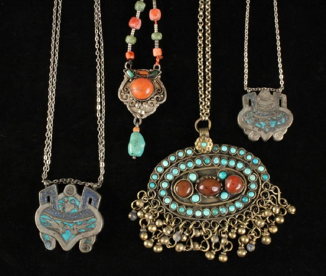 (4) ASIAN NECKLACES