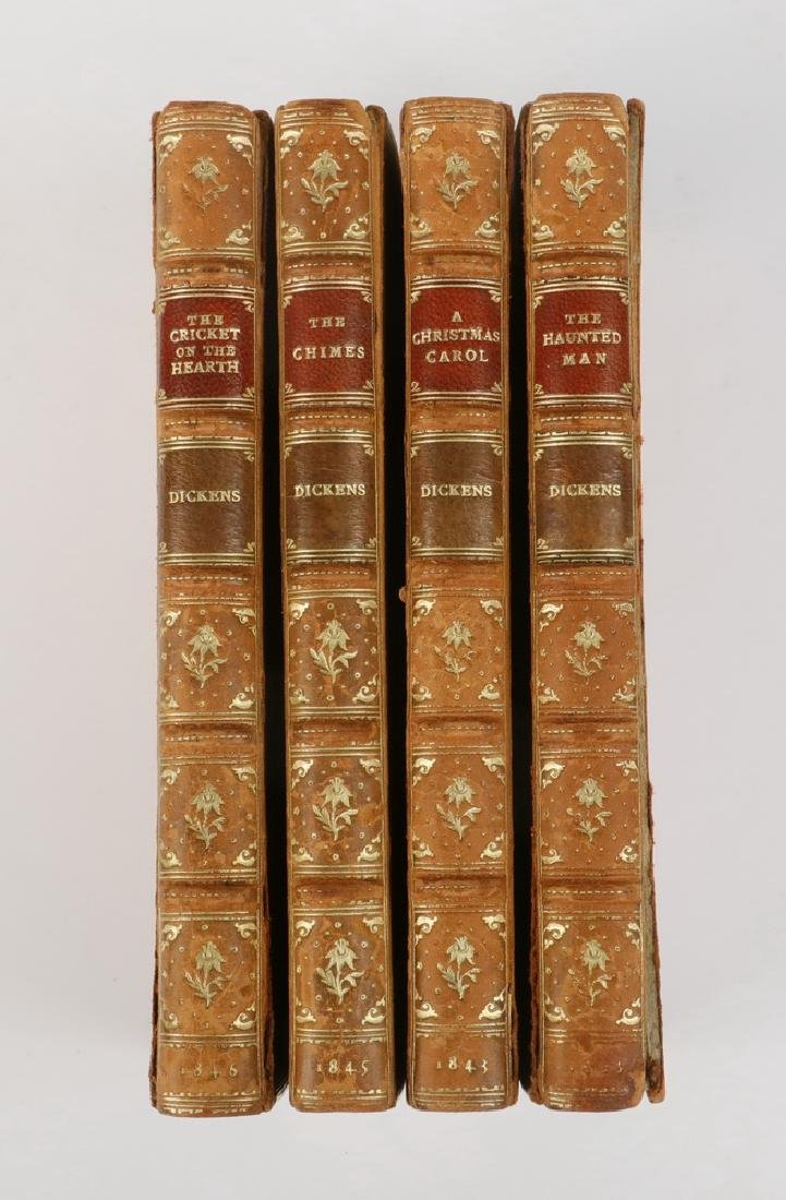 "(4 VOL SET) DICKENS ""CHRISTMAS BOOKS"" IN FINE BINDINGS, - 2"