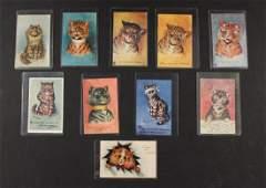 10 RARE LOUIS WAIN CAT POSTCARDS