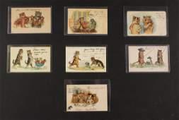 (7) RARE LOUIS WAIN CAT POSTCARDS