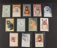 (12) RARE LOUIS WAIN CAT POSTCARDS
