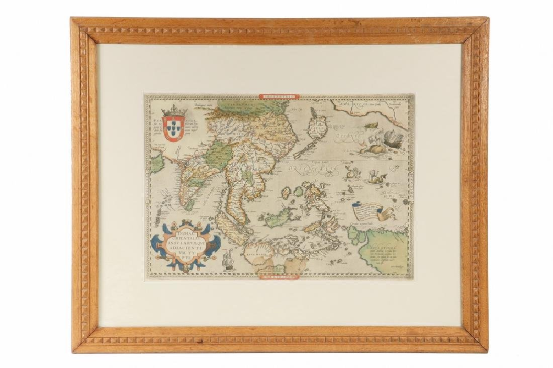 RARE MAP OF SOUTHEAST ASIA AND THE PACIFIC BY ORTELIUS,