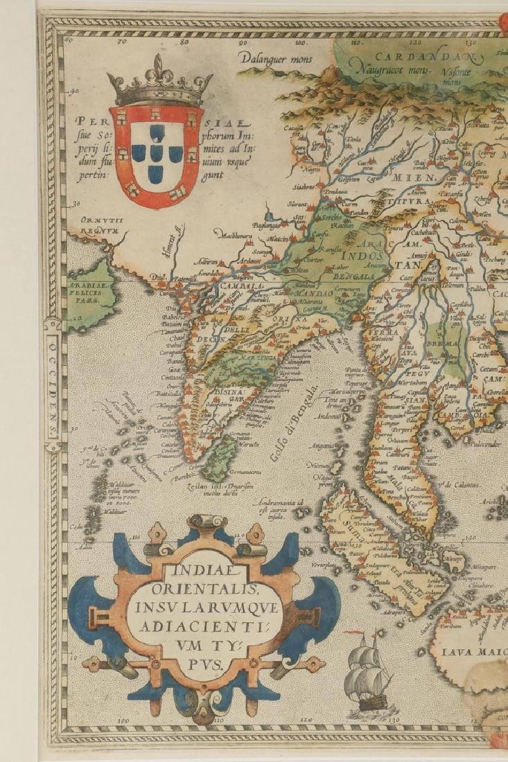 RARE MAP OF SOUTHEAST ASIA AND THE PACIFIC BY ORTELIUS, - 3