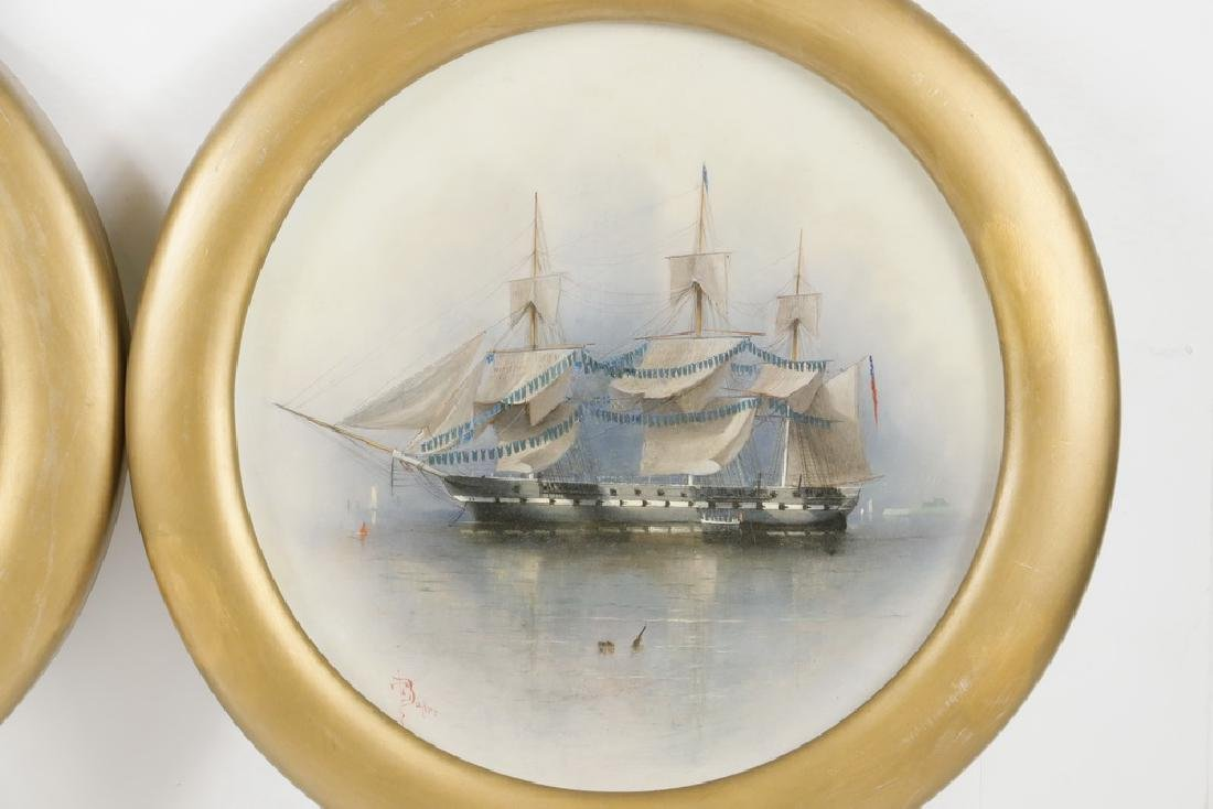 (2) 19TH C. SHIP'S PORTRAITS SIGNED E.T. BAKER - 3