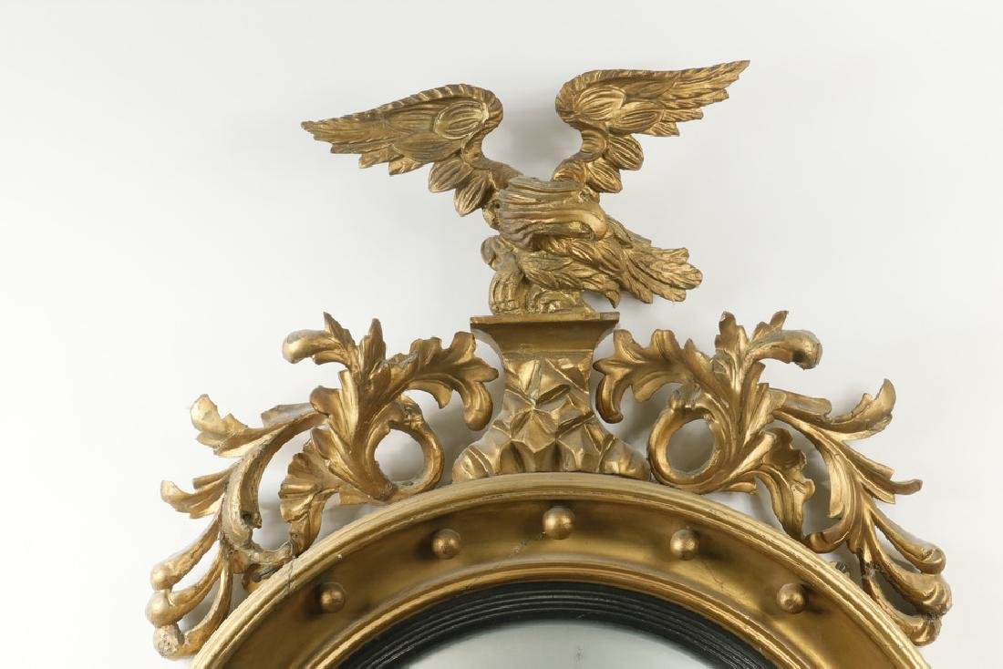 FEDERAL PERIOD BULL'S-EYE MIRROR WITH SCONCES - 2
