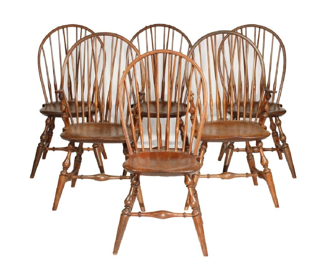 (SET OF 6) BOWBACK WINDSOR CHAIRS