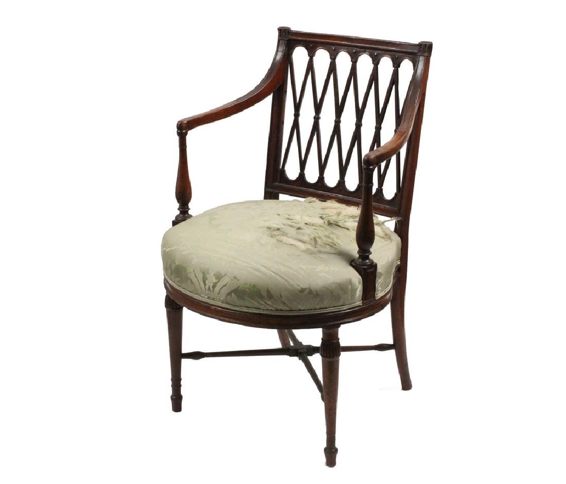 FRENCH OPEN FRAME ARMCHAIR