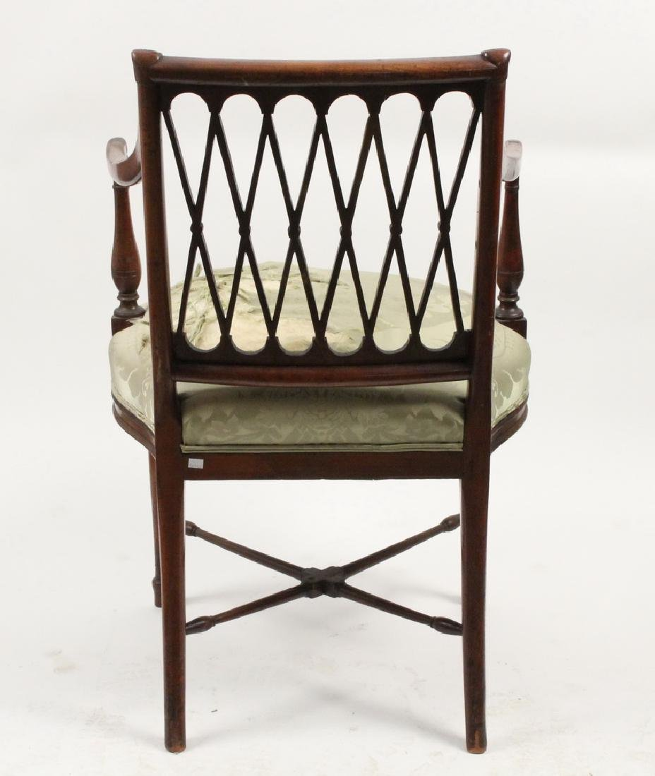 FRENCH OPEN FRAME ARMCHAIR - 3
