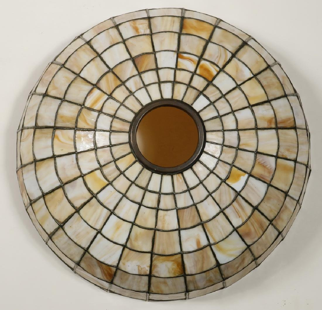 TABLE LAMP WITH HANDEL LEADED GLASS SHADE - 4