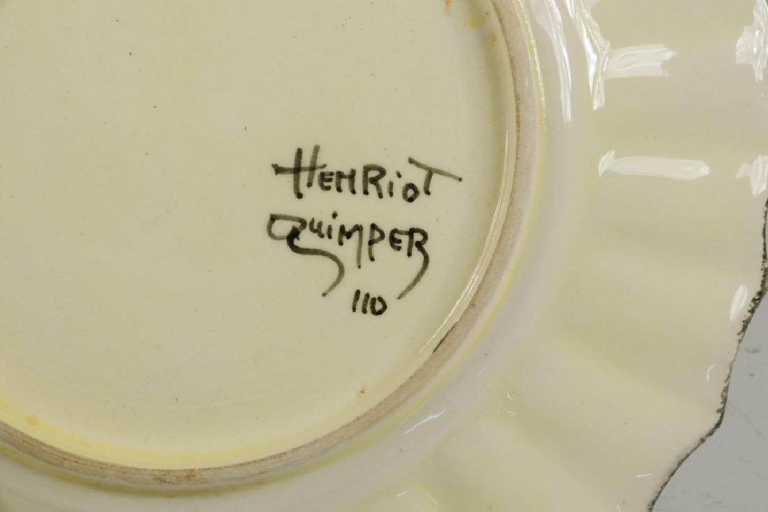 (16 PC) HENRIOT QUIMPER SEAFOOD SET - 4
