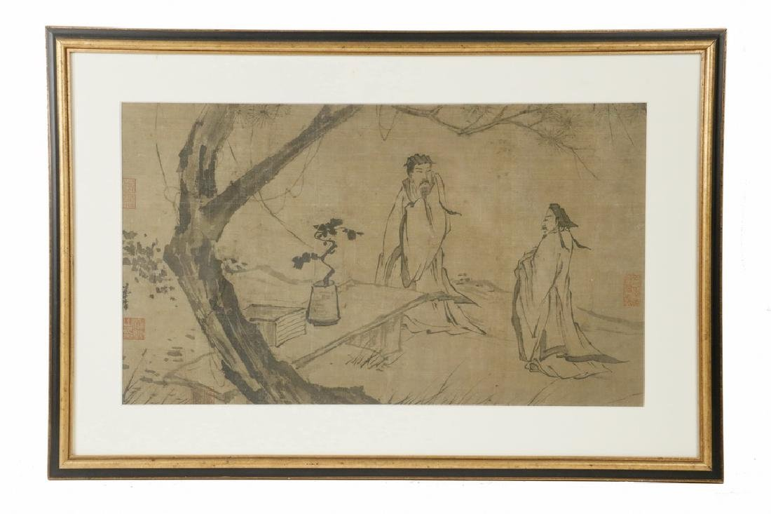 18TH C. JAPANESE INK DRAWING