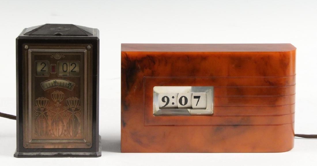 (2) VINTAGE CLOCKS: GE EXECUTIVE & WINSLOW CATALIN