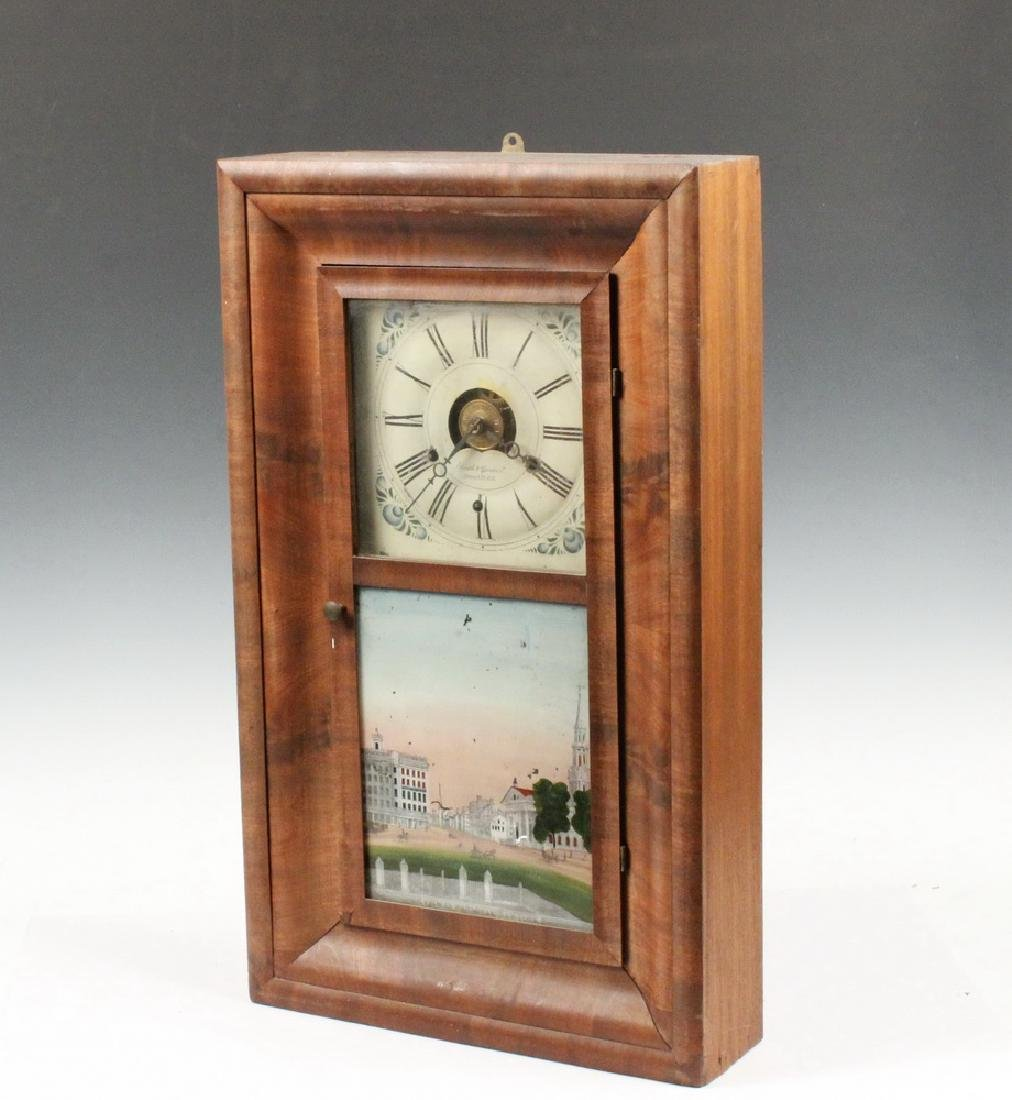 OGEE MANTEL CLOCK WITH VIEW OF BROADWAY, NYC